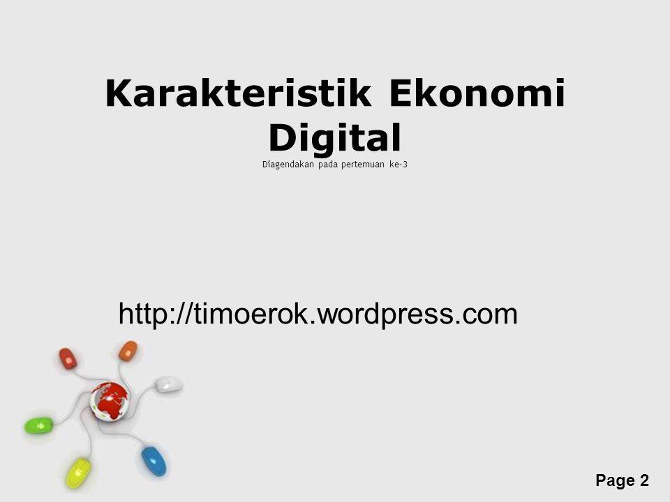 Karakteristik Ekonomi Digital Diagendakan pada pertemuan ke-3
