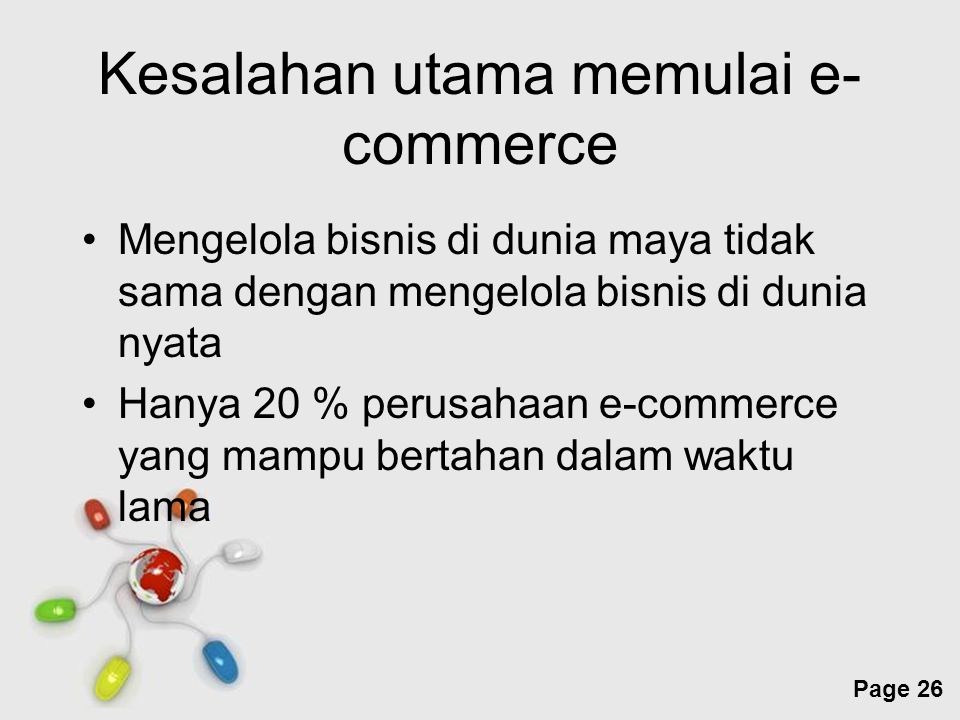 Kesalahan utama memulai e-commerce