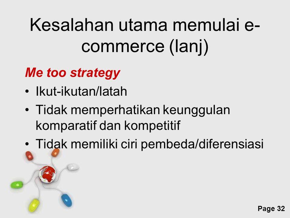 Kesalahan utama memulai e-commerce (lanj)