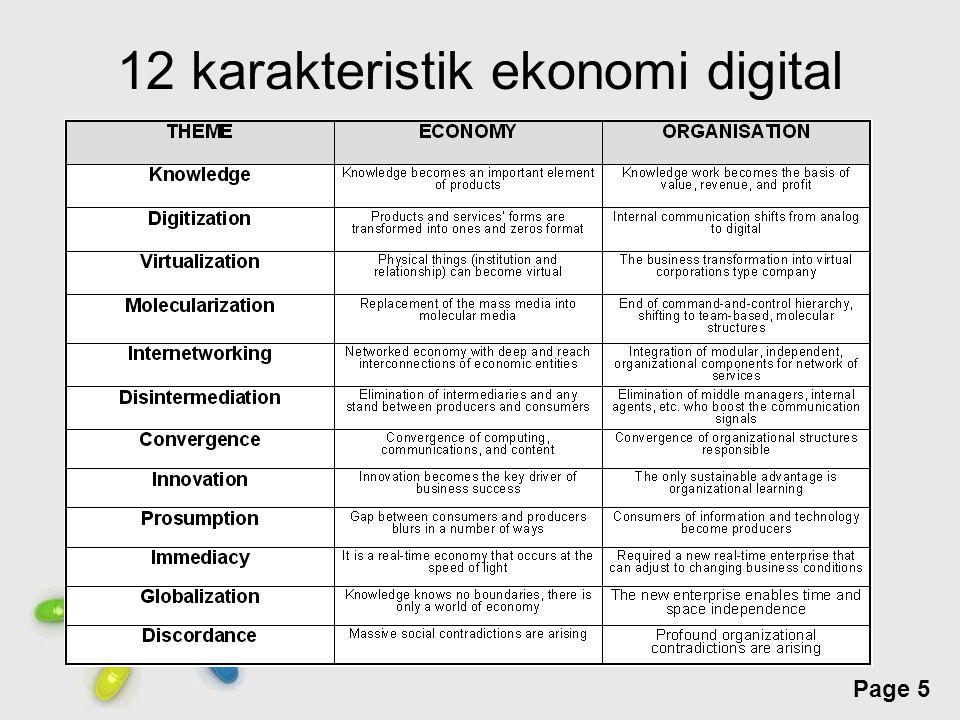 12 karakteristik ekonomi digital
