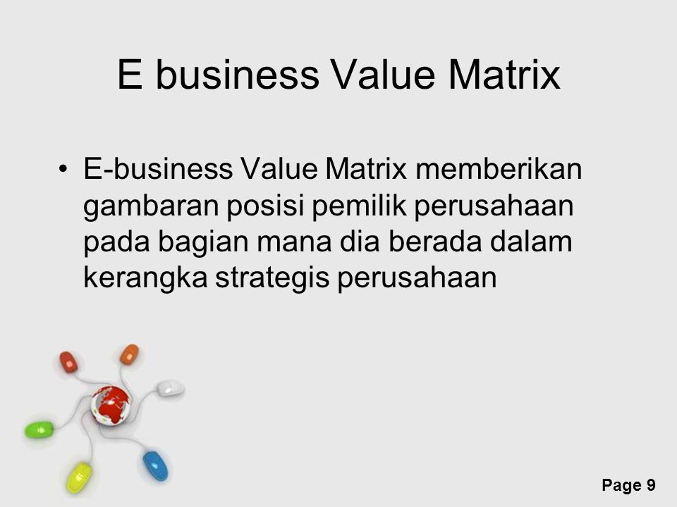 E business Value Matrix