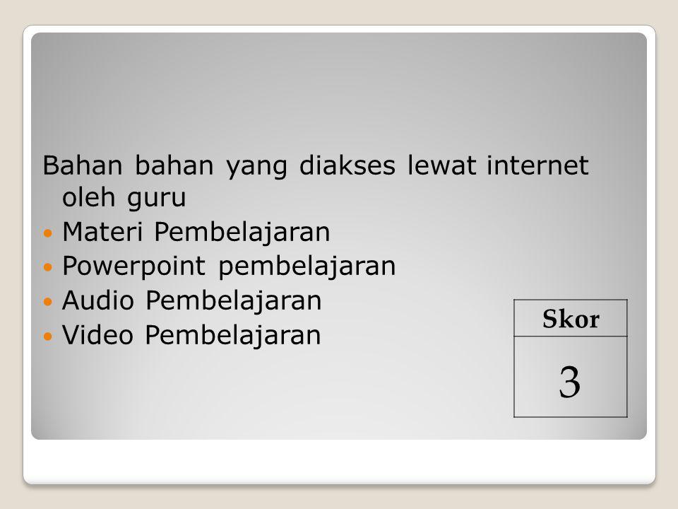 3 Bahan bahan yang diakses lewat internet oleh guru Skor