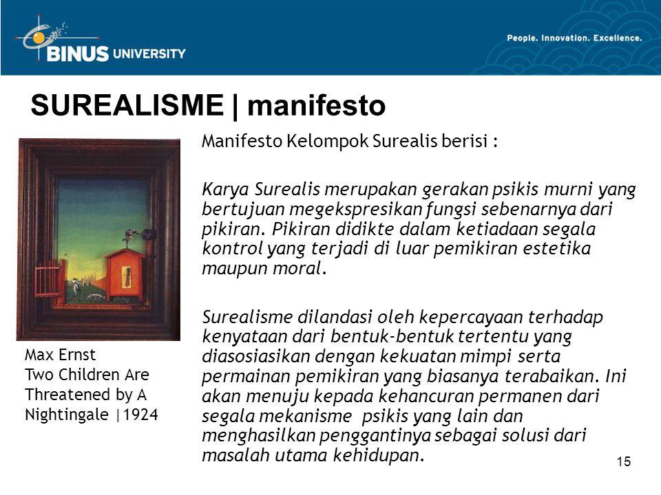 SUREALISME | manifesto