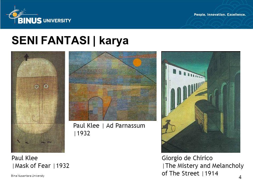 SENI FANTASI | karya Paul Klee | Ad Parnassum |1932 Paul Klee