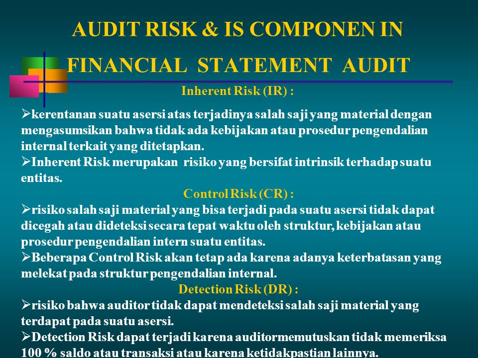 AUDIT RISK & IS COMPONEN IN