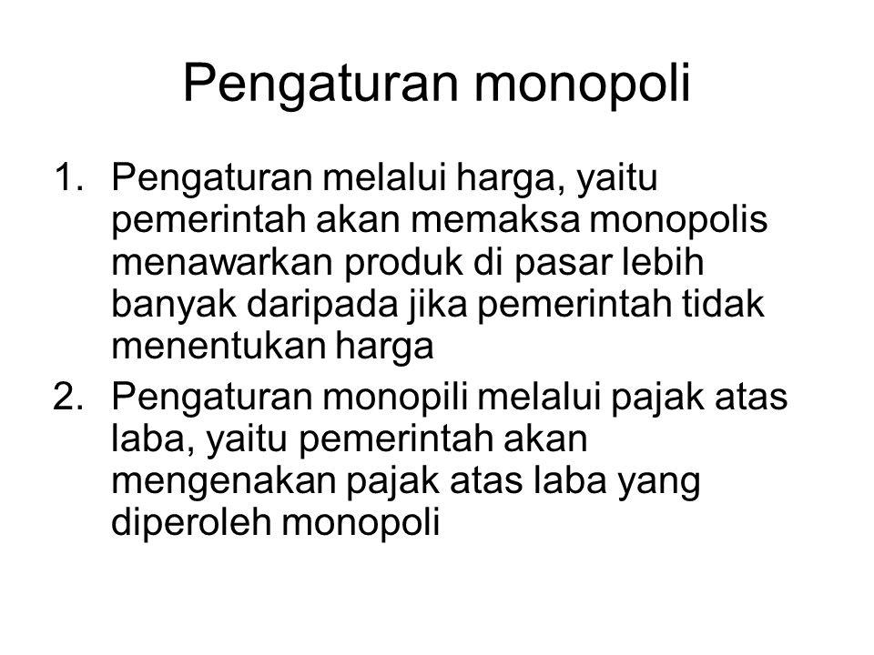 Pengaturan monopoli