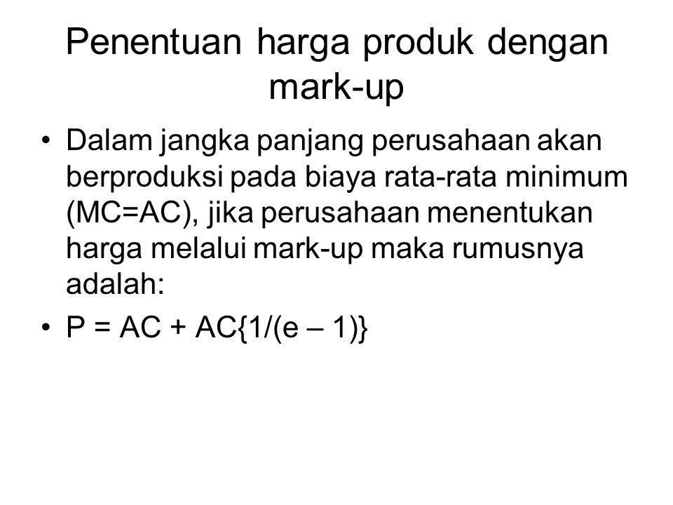 Penentuan harga produk dengan mark-up