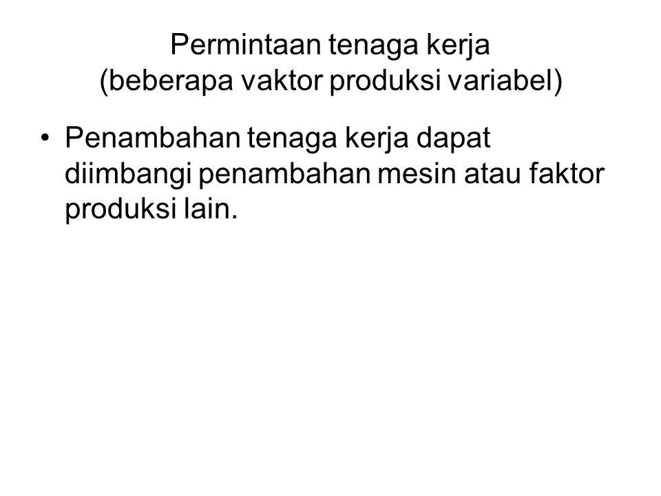 Permintaan tenaga kerja (beberapa vaktor produksi variabel)