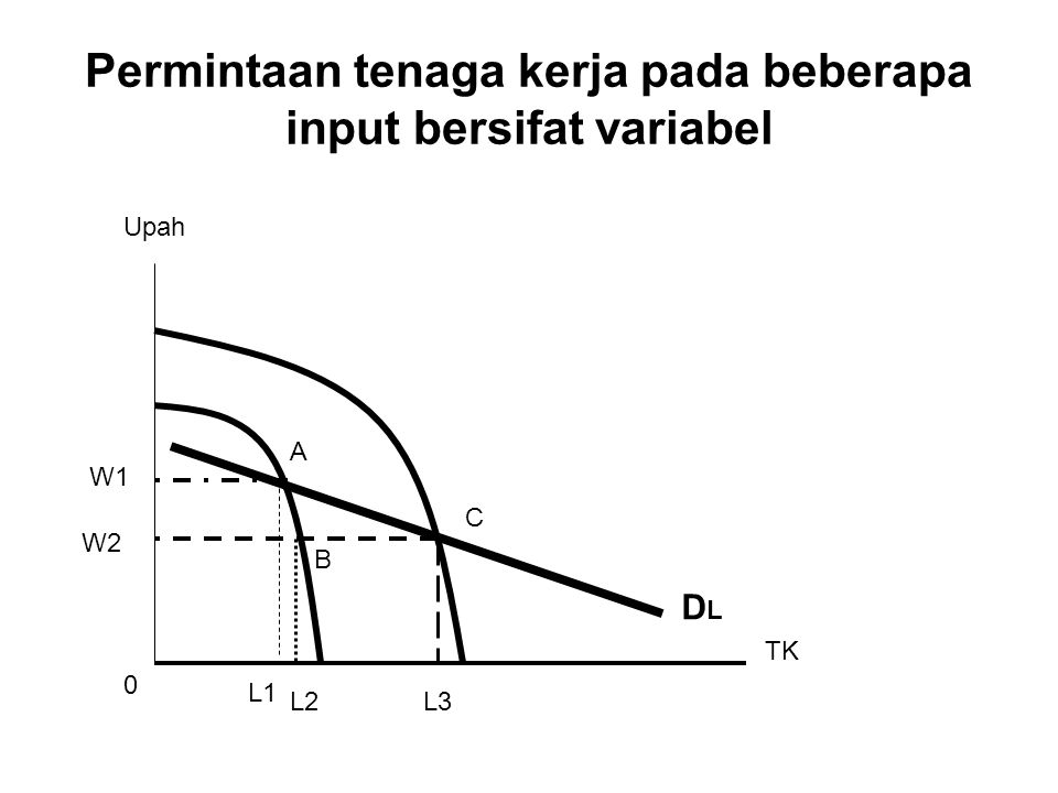Permintaan tenaga kerja pada beberapa input bersifat variabel