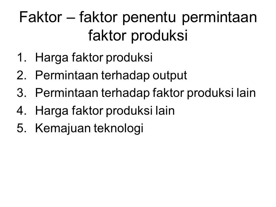 Faktor – faktor penentu permintaan faktor produksi