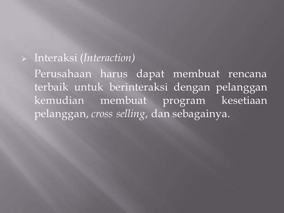 Interaksi (Interaction)