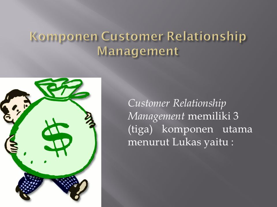 Komponen Customer Relationship Management