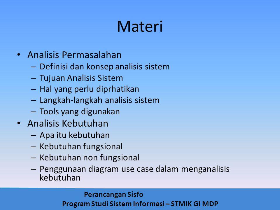 Materi Analisis Permasalahan Analisis Kebutuhan