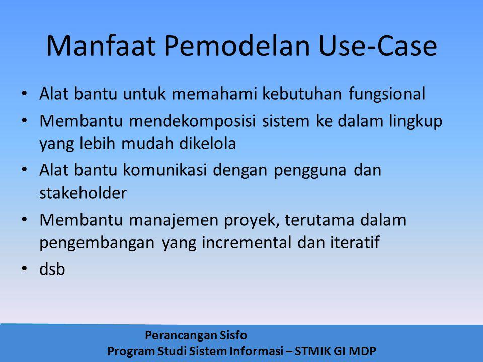 Manfaat Pemodelan Use-Case