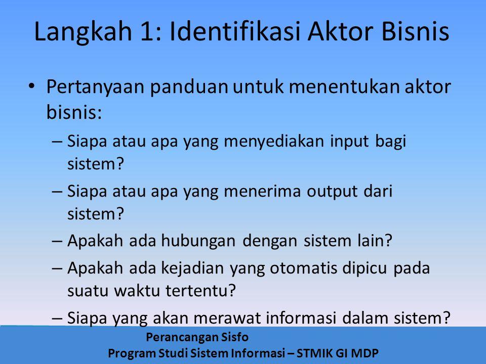 Langkah 1: Identifikasi Aktor Bisnis