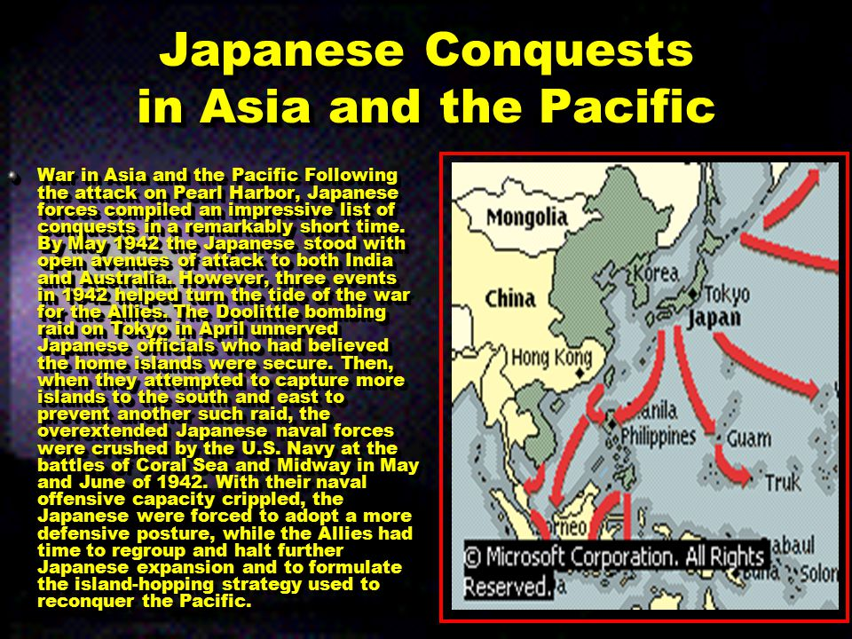 Japanese Conquests in Asia and the Pacific