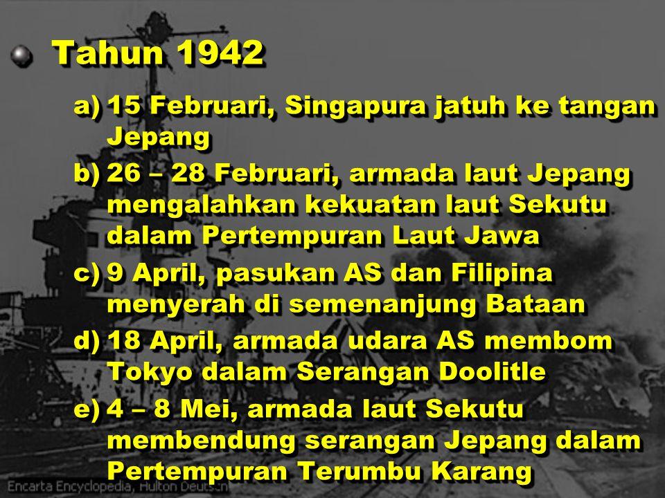Tahun 1942 15 Februari, Singapura jatuh ke tangan Jepang