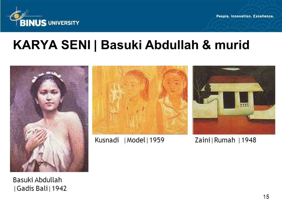 KARYA SENI | Basuki Abdullah & murid