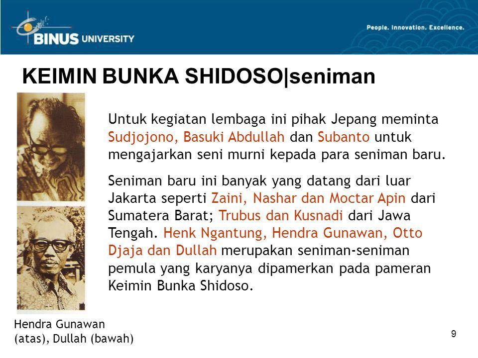 KEIMIN BUNKA SHIDOSO|seniman