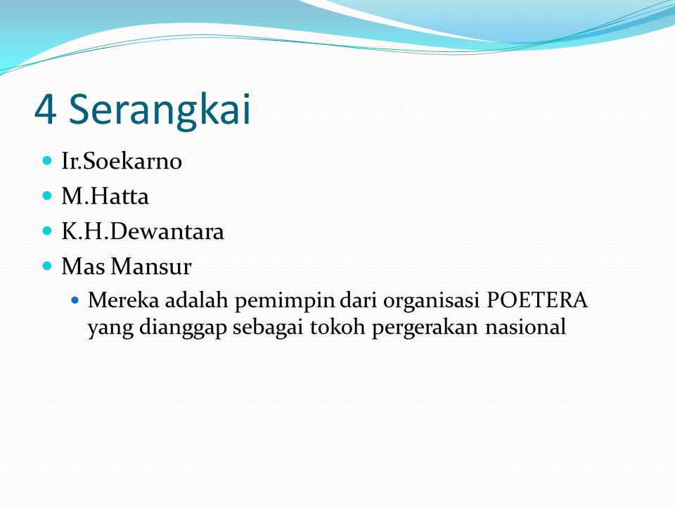 4 Serangkai Ir.Soekarno M.Hatta K.H.Dewantara Mas Mansur