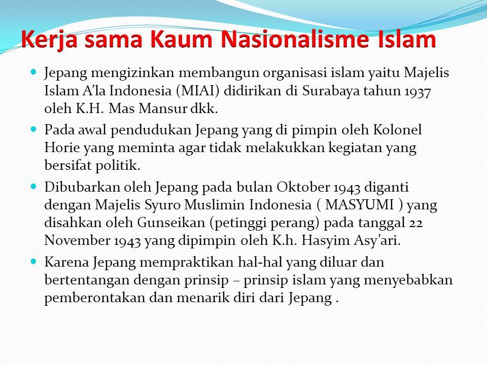 Kerja sama Kaum Nasionalisme Islam