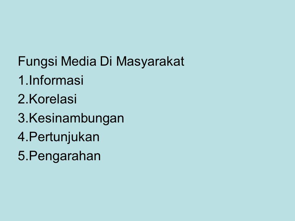Fungsi Media Di Masyarakat