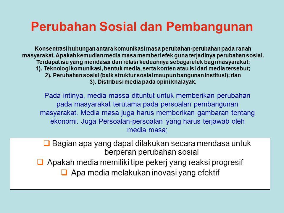 Perubahan Sosial dan Pembangunan
