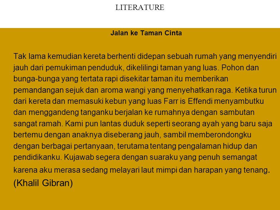 LITERATURE Jalan ke Taman Cinta.