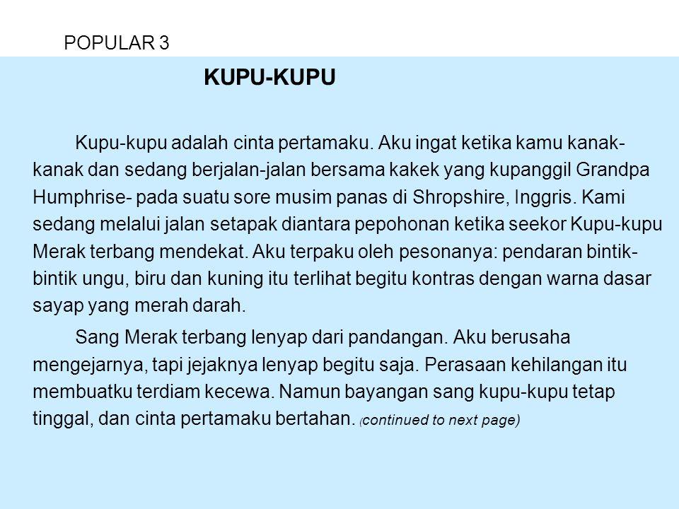 POPULAR 3 KUPU-KUPU.