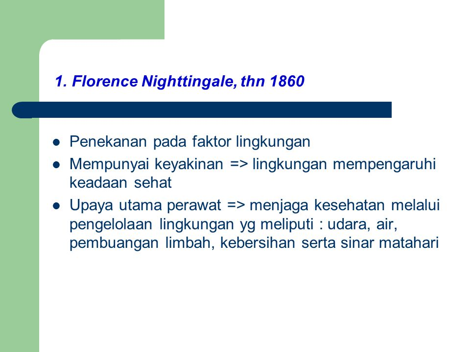 1. Florence Nighttingale, thn 1860