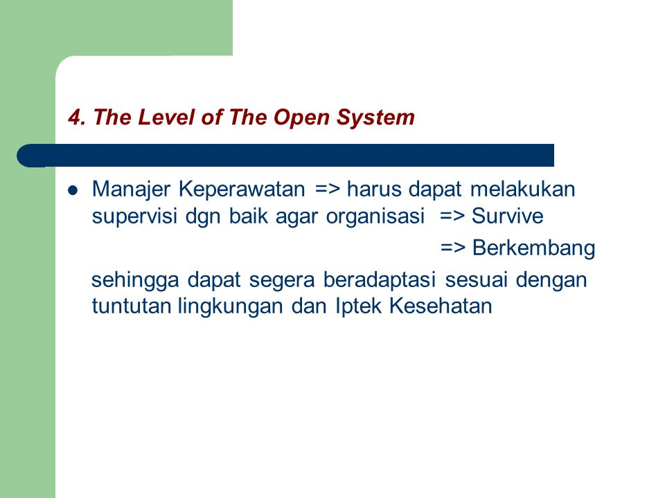 4. The Level of The Open System