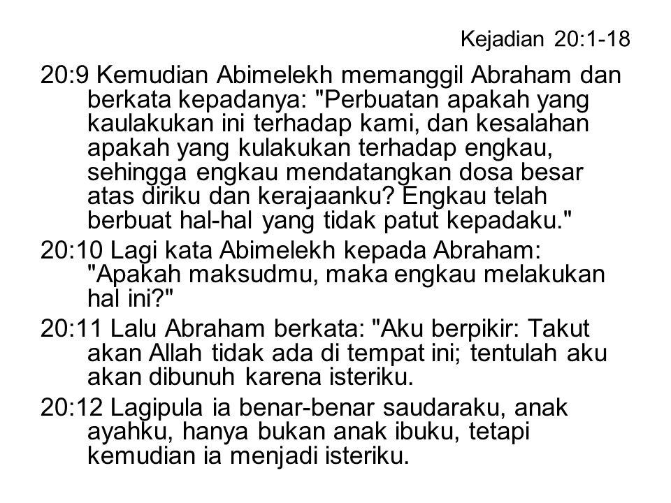 Kejadian 20:1-18