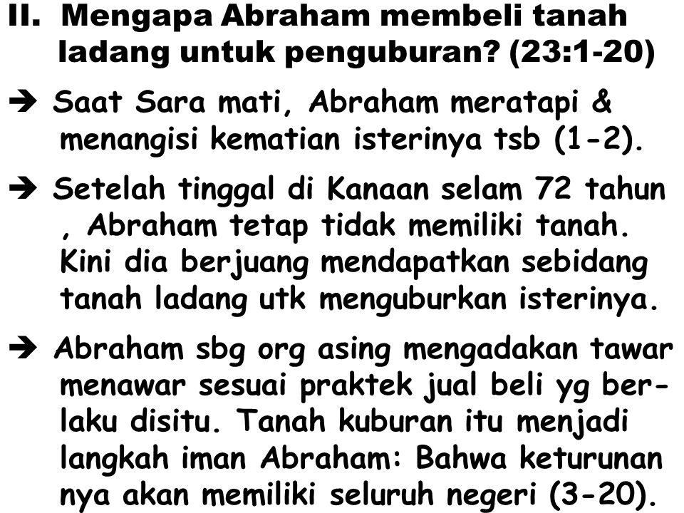 Mengapa Abraham membeli tanah