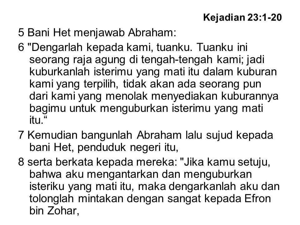 Kejadian 23:1-20