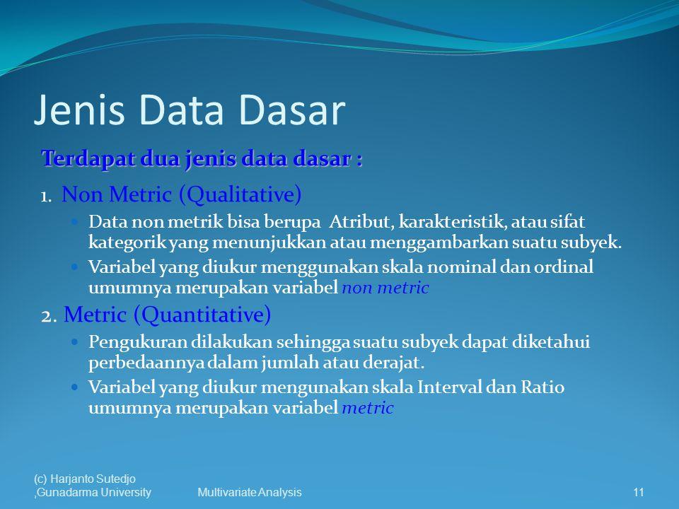 Jenis Data Dasar Terdapat dua jenis data dasar :