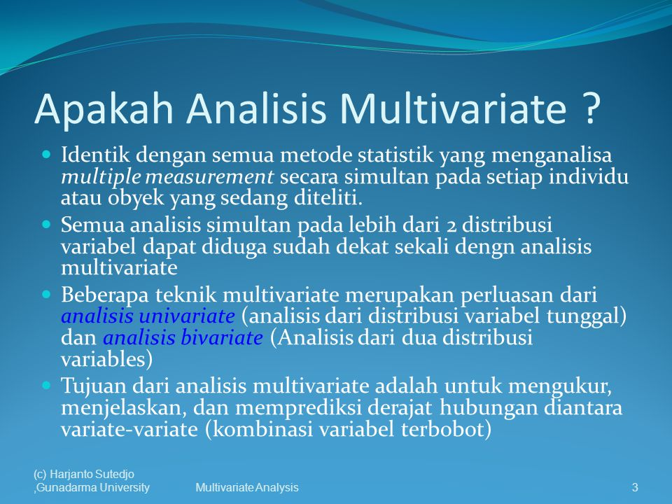 Apakah Analisis Multivariate