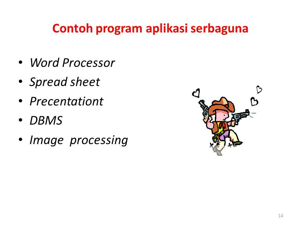 Contoh program aplikasi serbaguna