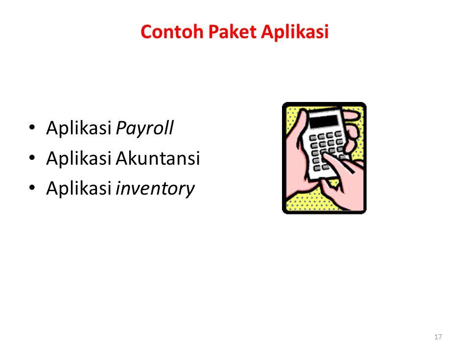 Contoh Paket Aplikasi Aplikasi Payroll Aplikasi Akuntansi Aplikasi inventory