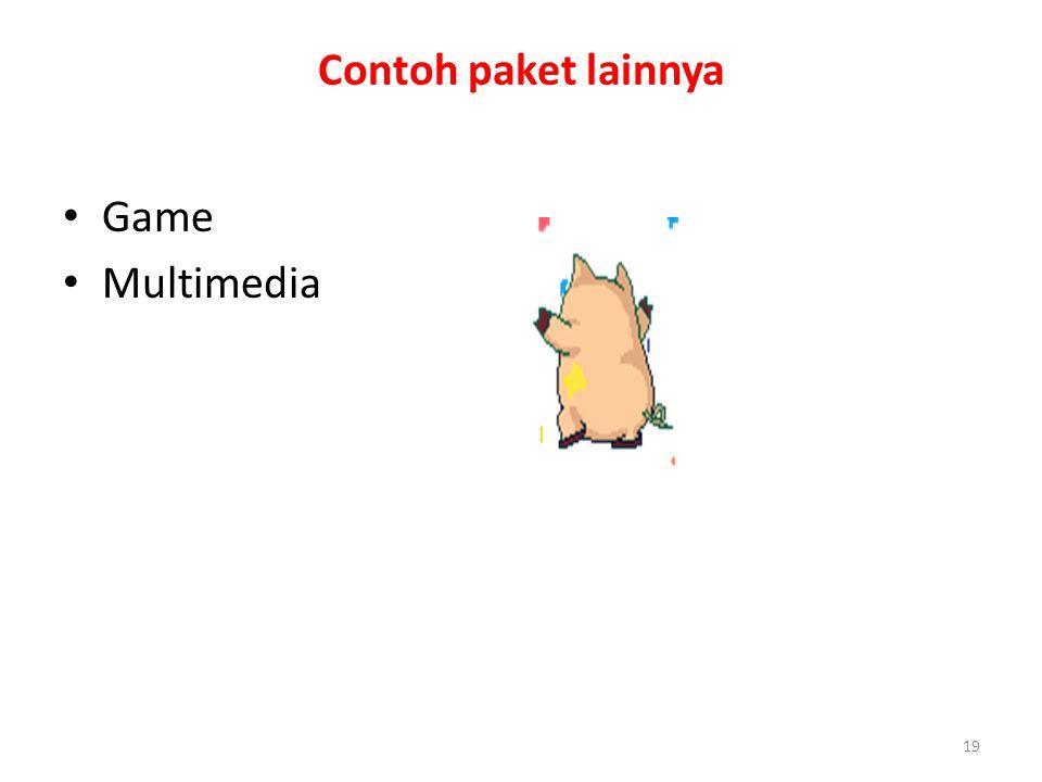 Contoh paket lainnya Game Multimedia
