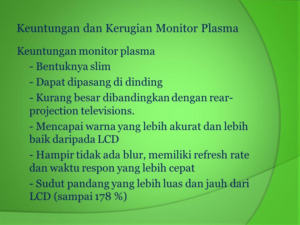 Keuntungan dan Kerugian Monitor Plasma