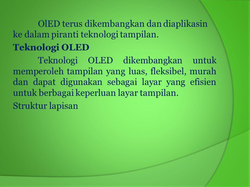 OlED terus dikembangkan dan diaplikasin ke dalam piranti teknologi tampilan.
