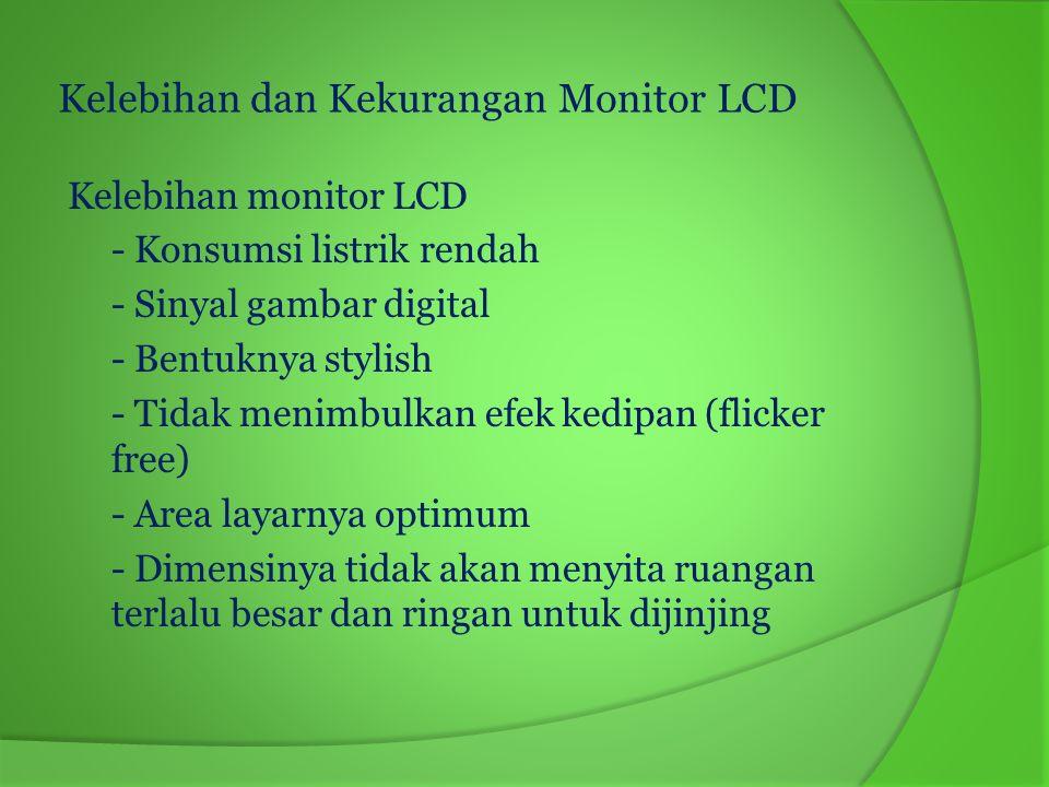 Kelebihan dan Kekurangan Monitor LCD