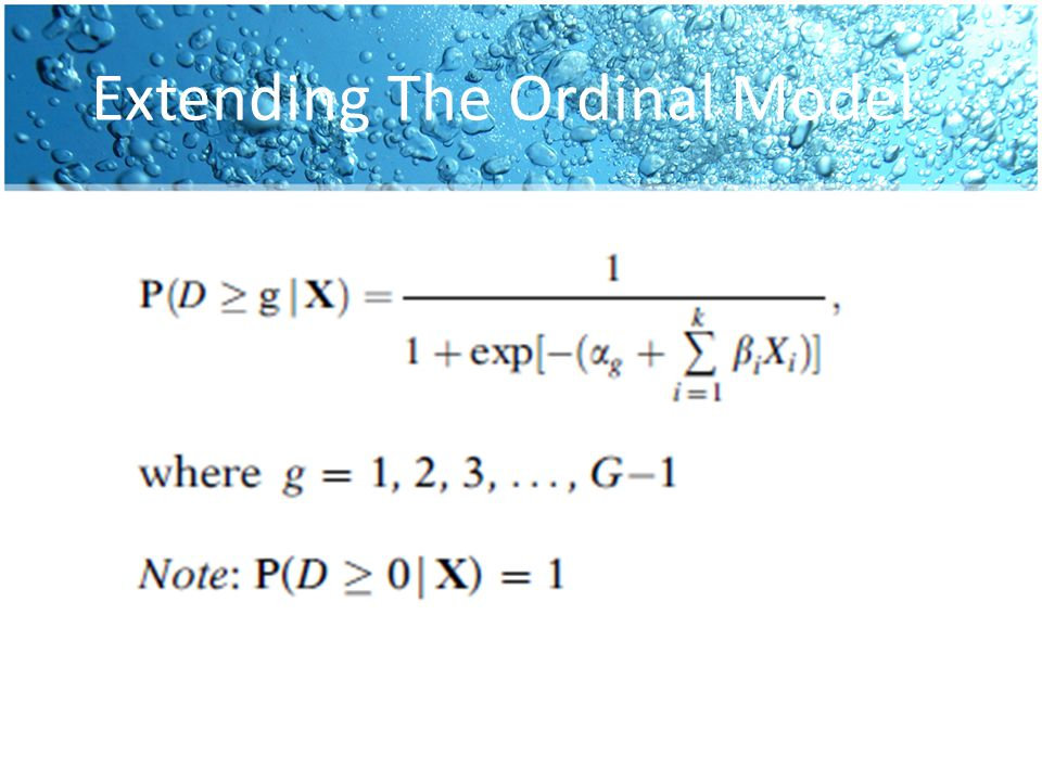 Extending The Ordinal Model