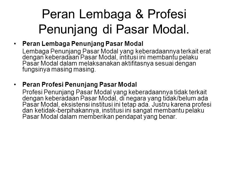 Peran Lembaga & Profesi Penunjang di Pasar Modal.