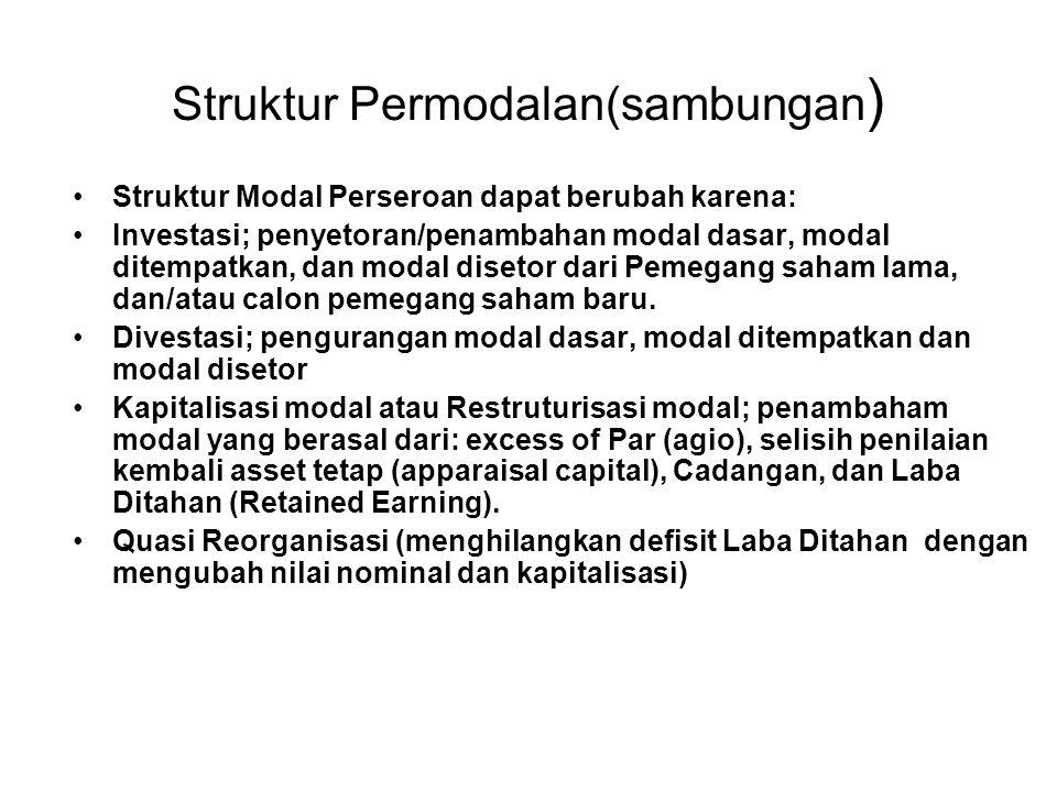 Struktur Permodalan(sambungan)