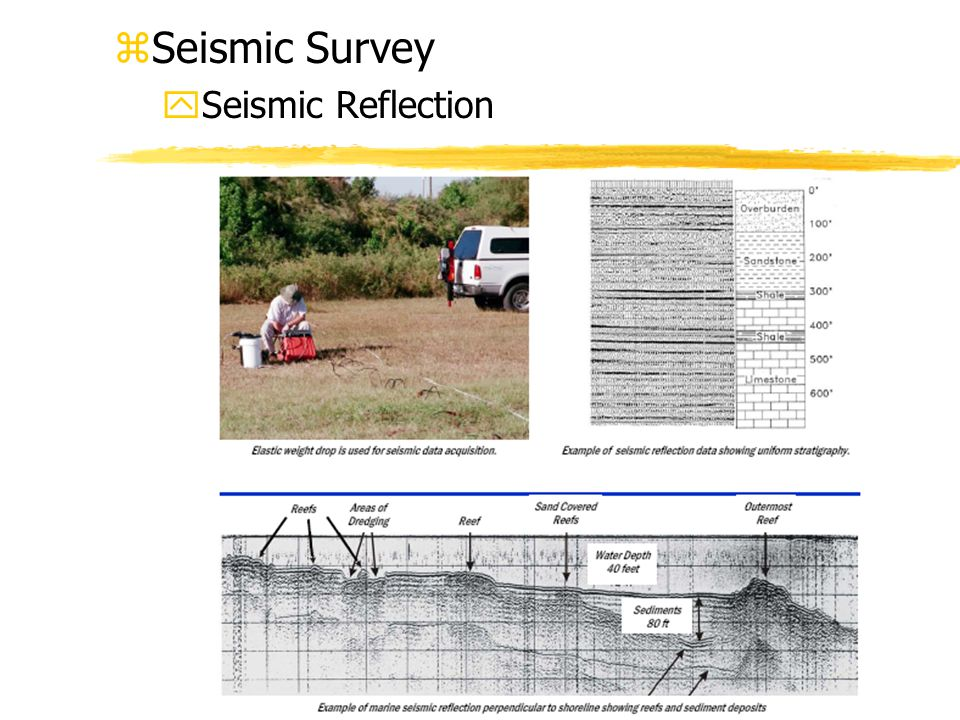Seismic Survey Seismic Reflection