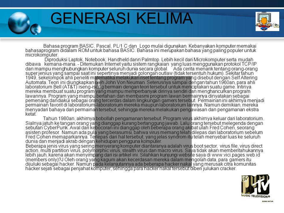 GENERASI KELIMA