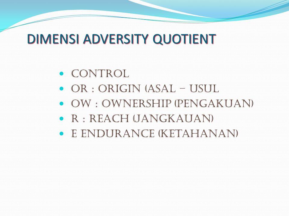 DIMENSI ADVERSITY QUOTIENT