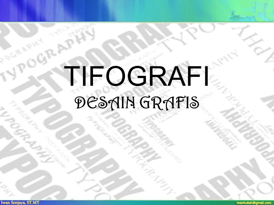TIFOGRAFI DESAIN GRAFIS