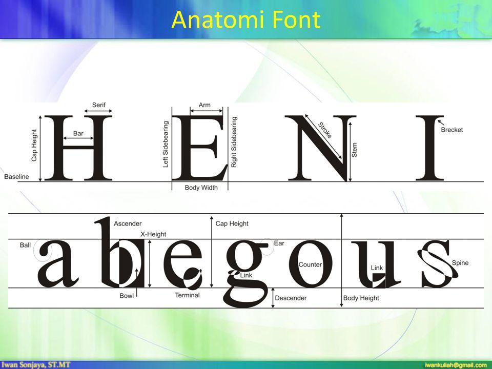 Anatomi Font
